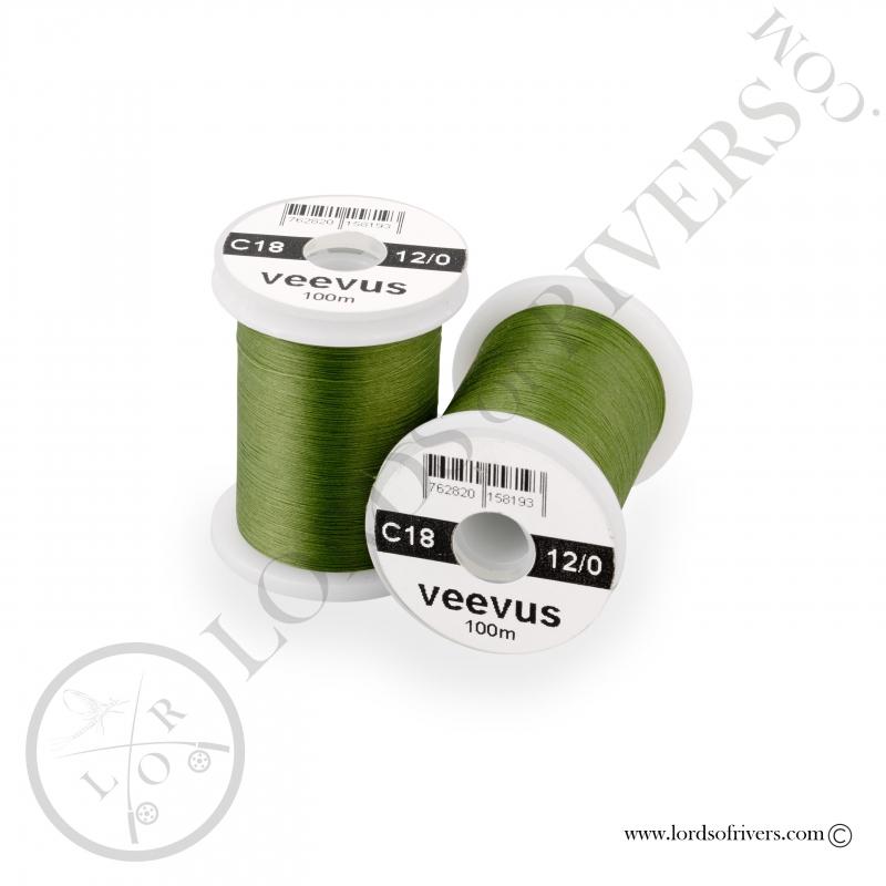 Soie de montage Veevus 12/0 Olive