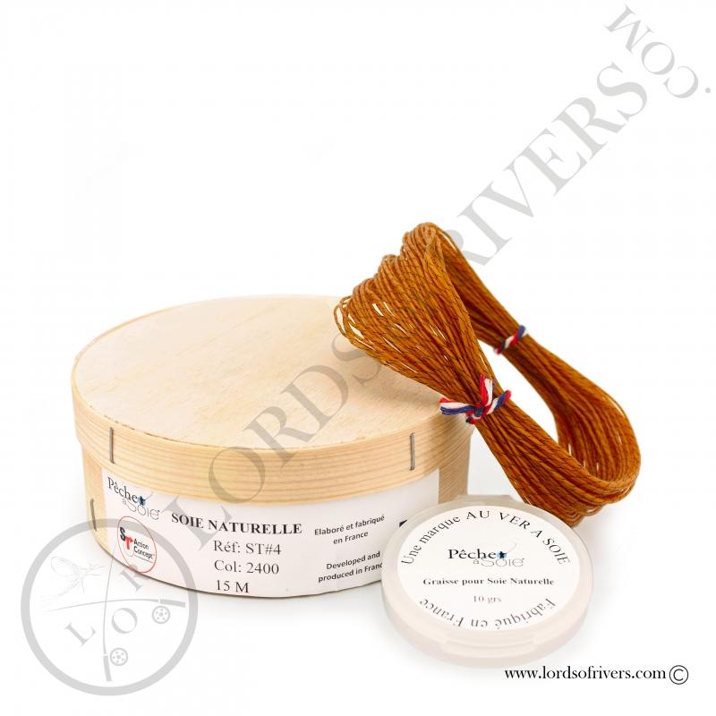 Soie naturelle simple fuseau (ST) 15m Pêche à soie