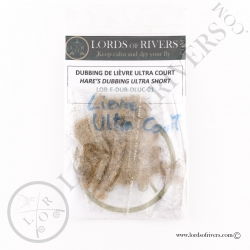 Ultra short hare hairs for dubbings and collars