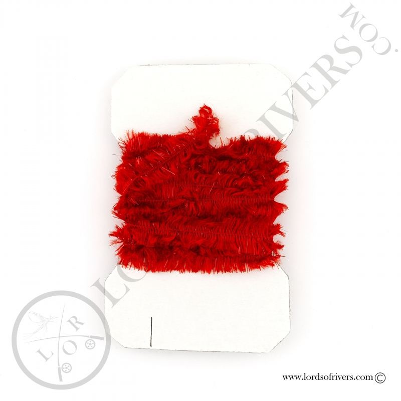 Chenille Rayon Lords Of Rivers Red