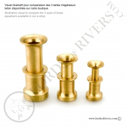 Brass hair stacker large model Lords of Rivers