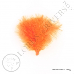 Marabou feathers Select  Lords of Rivers - 12 feathers - F.L. Orange