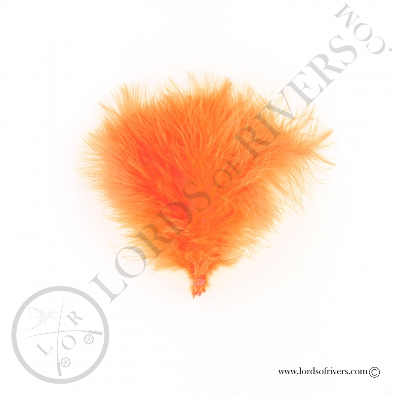 Plumes de marabout Select Lords of Rivers - 12 plumes - F.L. Orange