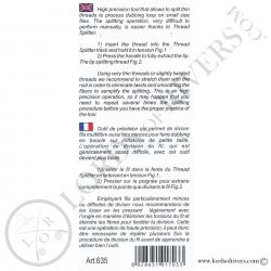Séparateur de fil pour dubbing Stonfo - Notice Verso
