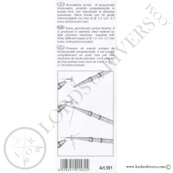 Conical finisher - Half Hitch tool Elite Stonfo Instructions verso 2