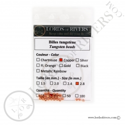 Tungsten Beads copper Lords of Rivers