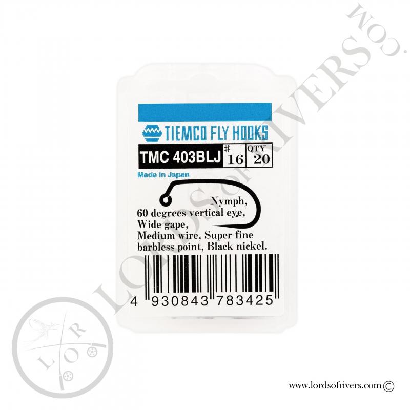 Hameçons nymphes jig Tiemco TMC 403-BLJ - Pack