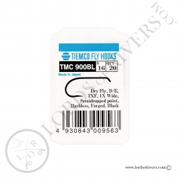 Dry fly hook Tiemco TMC 900-BL - Pack