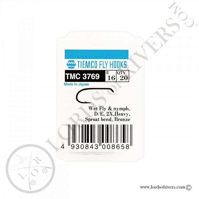 Hameçons nymphes et noyées Tiemco TMC 3769 - Pack