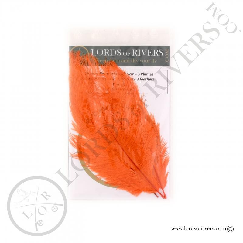 Plumes d'autruche 10/15 cm Lords of Rivers - Orange