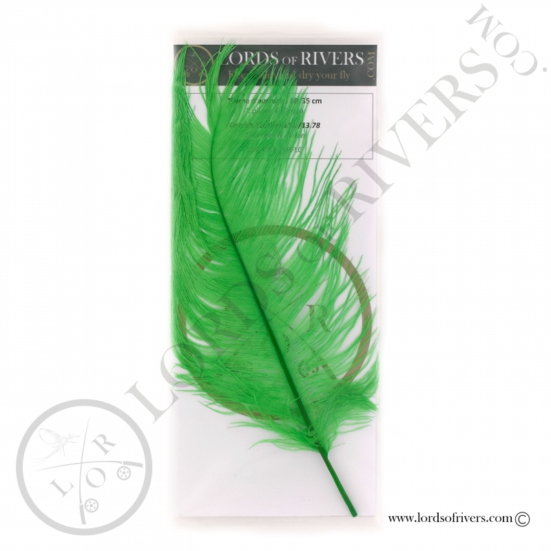 Ostrich feathers 11.8/13.78 in. Lords of Rivers - Fl. green