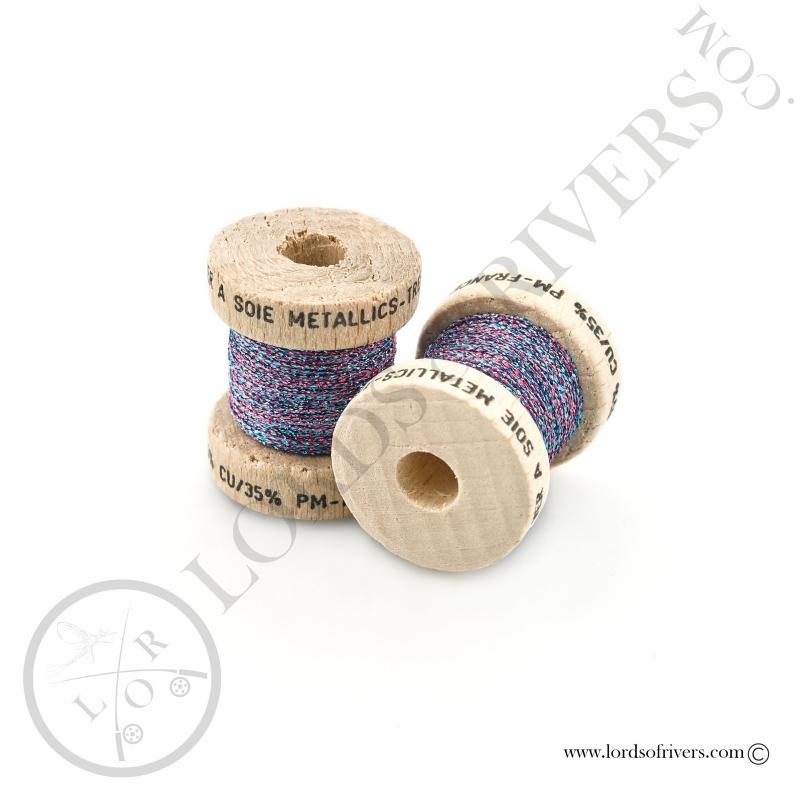 Metallic thread Au Ver à Soie Pink