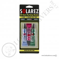 Solarez Fly Tie pack 3 tubes de 5 grs Pack
