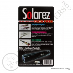 Solarez PRO ROADIE Kit 3 pack 1oz resins + Medium siz UVA Flashlight Instructions