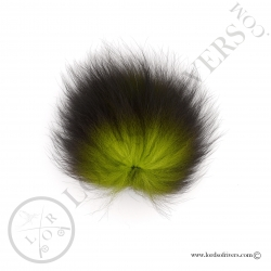 Foxy-Tails Dyed Silver Fox chartreuse