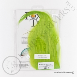 Foxy-Tails Cashmere Goat Pelt green chartreuse pack