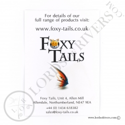 Foxy-Tails Dyed Silver Fox back