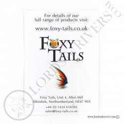 Foxy-Tails Black Pro Grade Silver Fox back