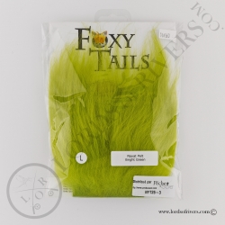 Foxy-Tails Nayat Hair Pelt Patch Brigth Green pack