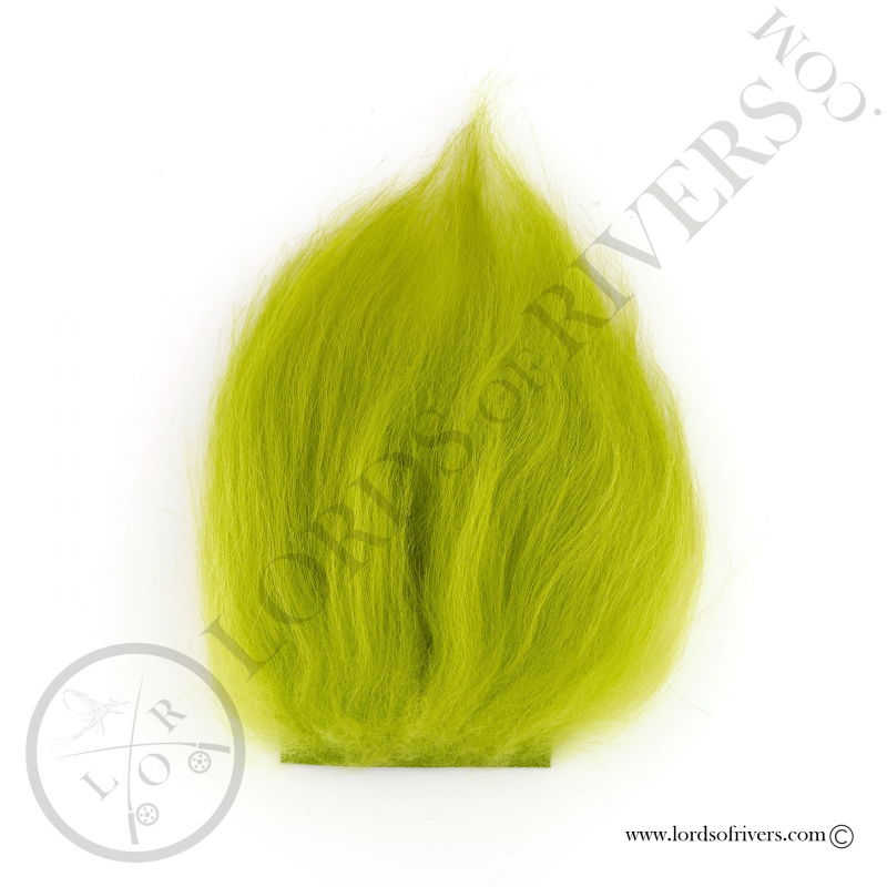 Foxy-Tails Nayat Hair Pelt Patch Brigth Green