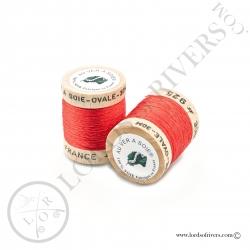 Ovale Silk Au Ver à Soie Red