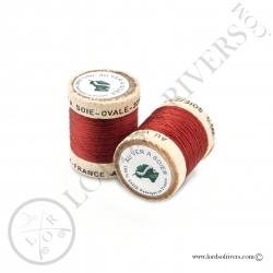 Ovale Silk Au Ver à Soie Burgundy