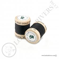Ovale Silk Au Ver à Soie Black