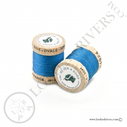 Ovale Silk Au Ver à Soie Blue