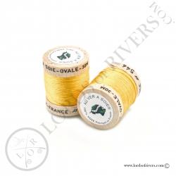 Ovale Silk Au Ver à Soie Gold Yellow