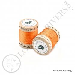 Ovale Silk Au Ver à Soie Hot Orange