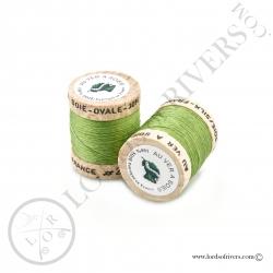 Ovale Silk Au Ver à Soie Light Green