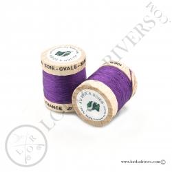 Ovale Silk Au Ver à Soie Purple