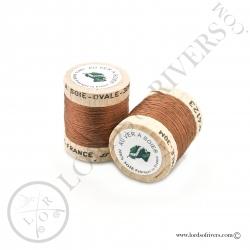 Ovale Silk Au Ver à Soie Light Brown