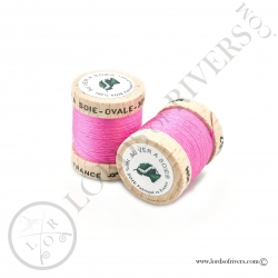 Ovale Silk Au Ver à Soie Pink