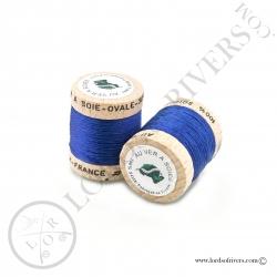 Ovale Silk Au Ver à Soie Dark Blue