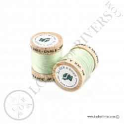 Ovale Silk Au Ver à Soie Pistachio