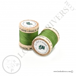 Ovale Silk Au Ver à Soie Green