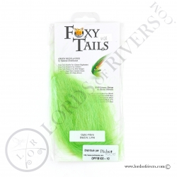 FoxyTails Optic Fibre Electric Lime Pack