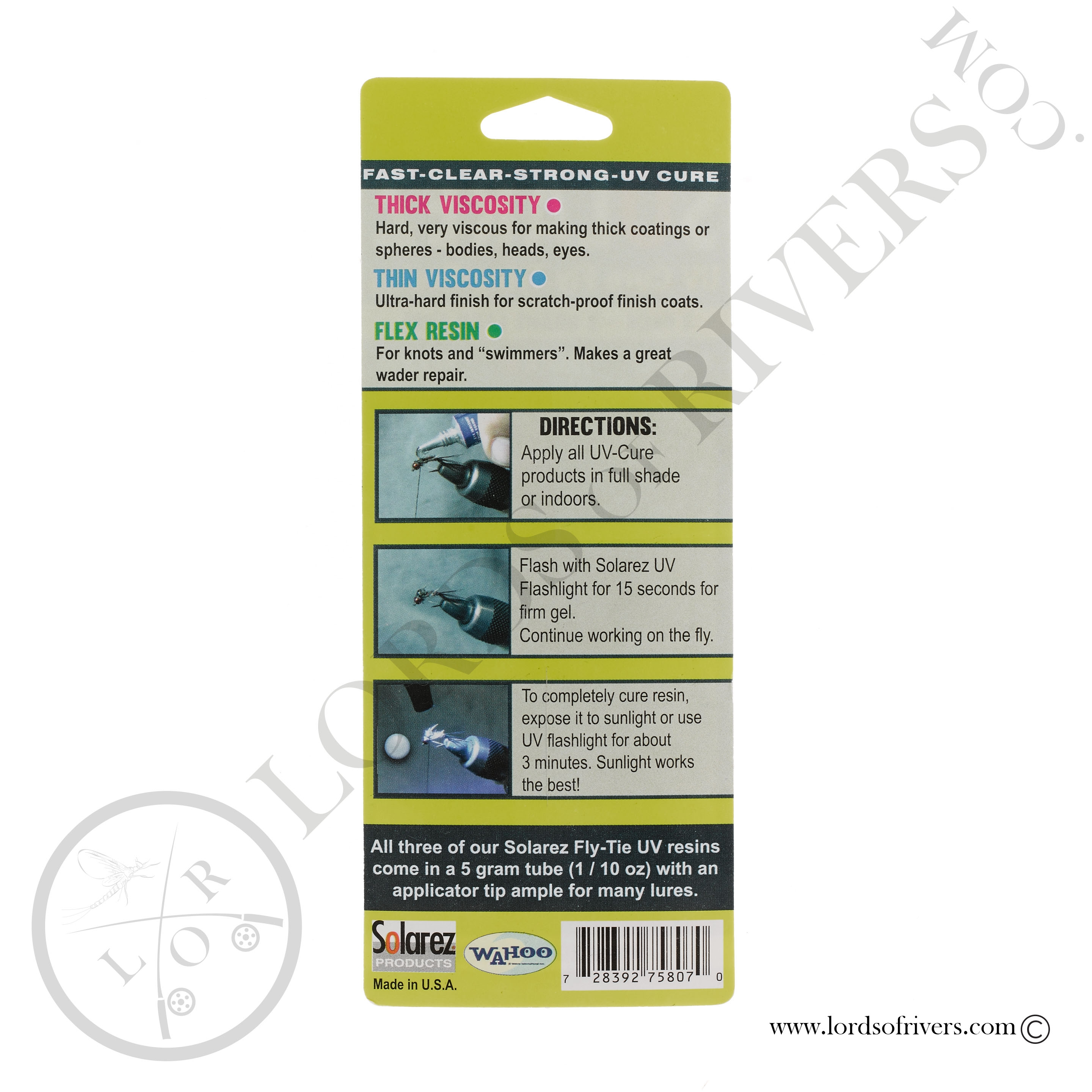 Solarez Fly Tie 3 pack - 15 total grams (thin-hard, thick